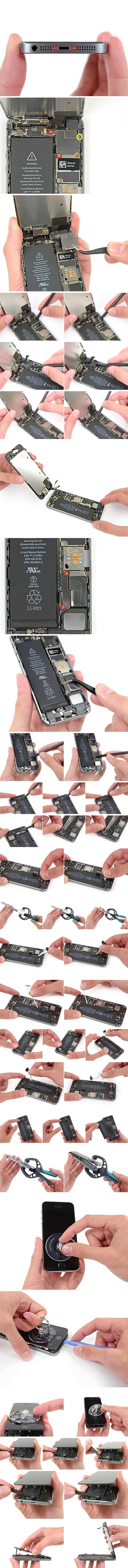 Как заменить батарею iPhone 5S (аккумулятор). По шагам фото и видео инструкция